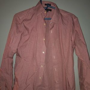 Men's small Banana Republic red button down